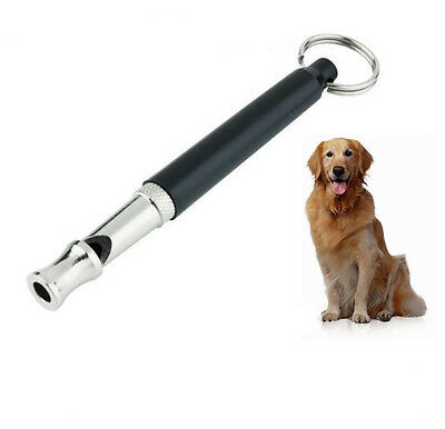 Pet Dog Training Obedience Whistle UltraSonic Supersonic Sound Pitch Black Q22