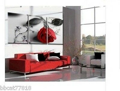 3PC Art Deco Modern Abstract Wall Art Oil Painting On Canvas(no frame)