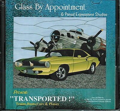 TRANSPORTED Trains Cars Planes Paned Expressions 130+ Patterns BONUS! Pattern CD