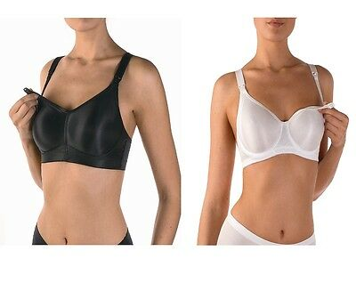 BREAST FEEDING,MATERNITY, NURSING BRA,EX-STORE,BLACK or WHITE.FREE POSTAGE