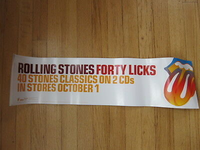 ROLLING STONES 40 Licks promo poster 6x24