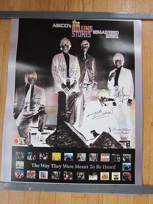 ROLLING STONES Abkco Remastered poster Brian Jones etc negative image