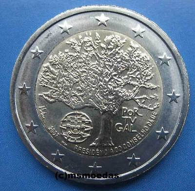 Portugal 2 Euro Gedenkmünze 2007 EU-Präsidentschaft Euromünze commemorative coin