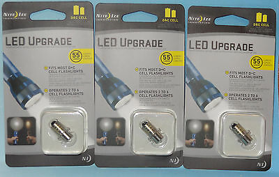 3 C & D CELL MAGLITE FLASHLIGHT LED UPGRADE BULBS EXTENDS BATTERY LIFE NITE IZE