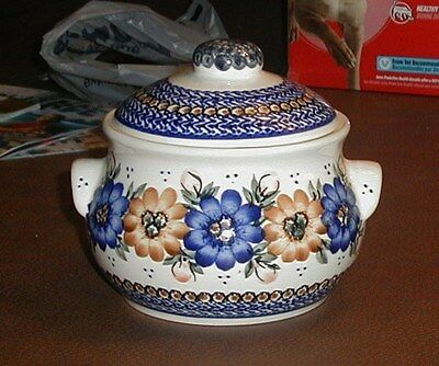 Polish Pottery Smaller Covered Casserole or Large Covered Jar