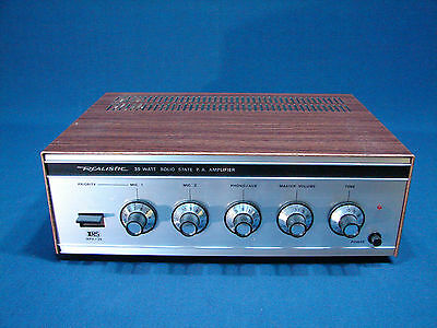 VINTAGE REALISTIC MPA-35 PA AMPLIFIER- NEVER USED - NEW OLD STOCK