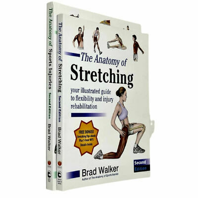 The Anatomy of Stretching 2 Books Collection Set By Brad Walker [