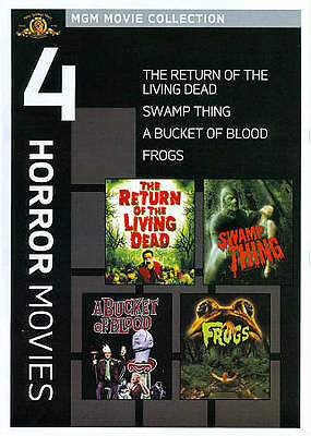 MGM 4 Horror Movies on DVD Frogs Return of the Living Dead Swamp Thing + 1 More