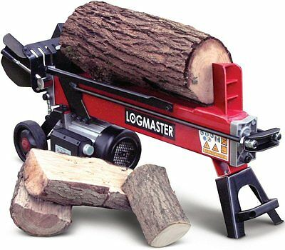 Log Splitter Electric Hydraulic 7 Ton Portable Wood Axe Cutter By Logmaster