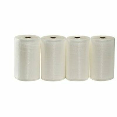 "4 Rolls 8""x50' Vacuum Seal Food Vac Storage Saver Bags Fits All Clamp Sealers"