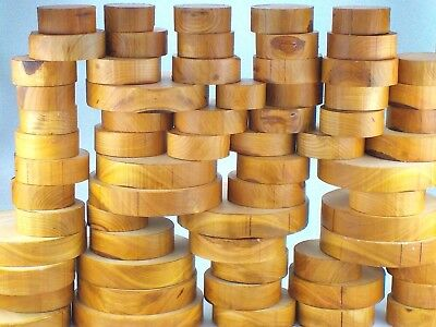 """Wild Cherry wood turning bowl blanks. 50mm (2"""") thick. Woodturning, carving."""