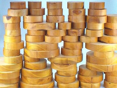 "Wild Cherry wood turning bowl blanks.  50mm (2"") thick."