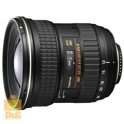 NEW BOXED TOKINA AT-X 124 PRO DX II 12-24mm F/4 LENS 4 CANON EF-S 7D 60D 650D