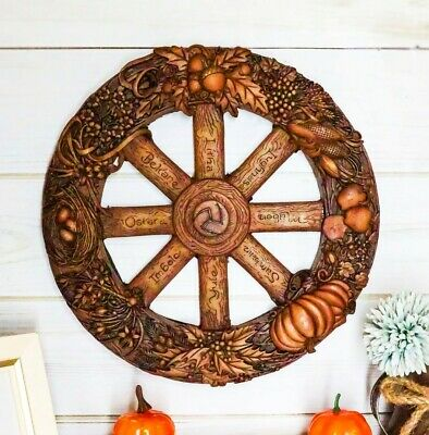 Wheel of The Year Wall Plaque Eight Pagan Festivals Sabbats By Maxine Miller