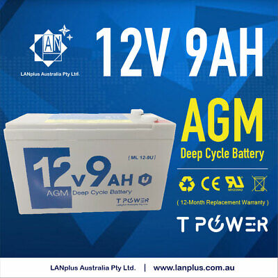 Brand NEW 12V 9AH SLA AGM Battery Same Size as 12V 8ah/7.5ah but 2ah 25% Higher