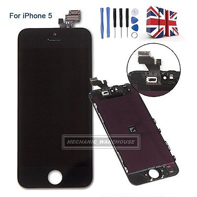 For iPhone 5 LCD Digitizer Touch Screen Display Front Glass Lens Assembly Black
