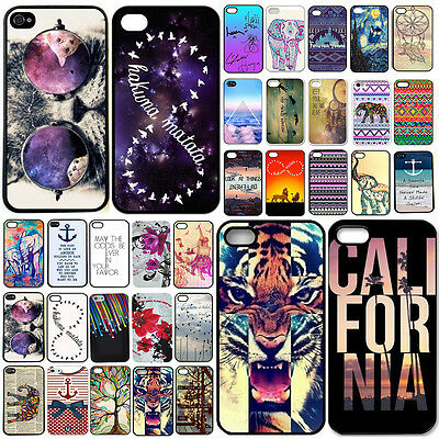 New pattern hard skin case cover back protector For iphone 6 4.7'' 5 5s 5c 4 4s