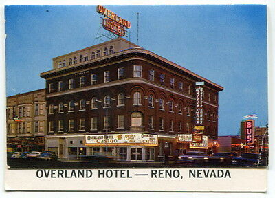 "Vintage Business Card/Folder: ""OVERLAND HOTEL"" [Reno, Nevada]"