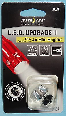 AA MINI MAGLITE LED BULB with 30 LUMENS SAVES BATTERY LIFE & CAN FOCUS NITE IZE