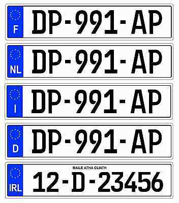 Magnetic Number Plate For Trailer Caravan All Countries Germany,France,UK Italy