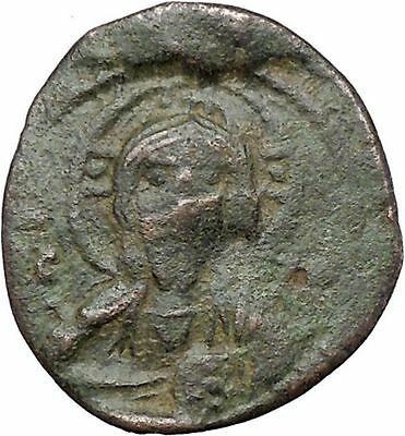 JESUS CHRIST Class I Anonymous Ancient 1078AD Byzantine Follis Coin CROSS i48191
