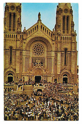Canada Quebec Blessing the Sick Ste Anne De Beaupre Vtg 1967 Postcard
