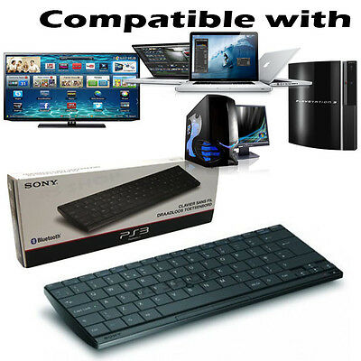 AZERTY Official Sony Wireless Slim Bluetooth Keyboard for PS2/3/4 &  MAC/PC TV`s