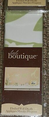LITTLE BOUTIQUE FLOCKED WALL DECAL STICKERS ANY JUNGLE SAFARI ROOM ANIMALS SOFT