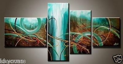4P MODERN ABSTRACT HUGE WALL ART OIL PAINTING ON CANVAS NO FRAME
