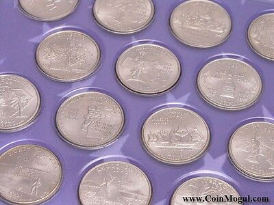 1999-2009 P Statehood And Territories Quarters Complete Unc 56 Coin Set New