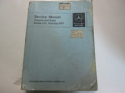 1977 MERCEDES Chassis and Body 123 Service Repair Manual Factory OEM Book Rare