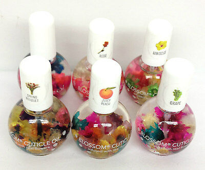 Blue Cross- Blossom- Nail Cuticle Oil with Real Flowers 0.5 oz -Pick any scent