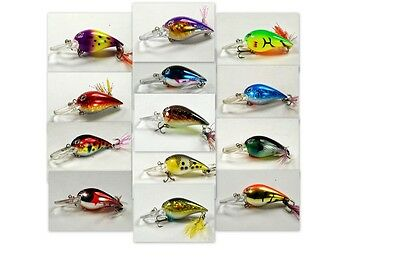 """Akuna [133] Lot of 13 Holographic 3"""" Bass Pike Trout Fishing Lure Bait"""
