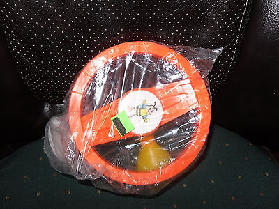VINTAGE 1987 BABY STEERING WHEEL TOY W/ BEEPING HORN NEW-OLD STOCK w/o Package