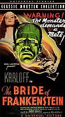 The Bride of Frankenstein (VHS Movie)  ***FREE SHIPPING***