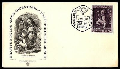 1956 Argentina Los Ninos cachet on first day cover