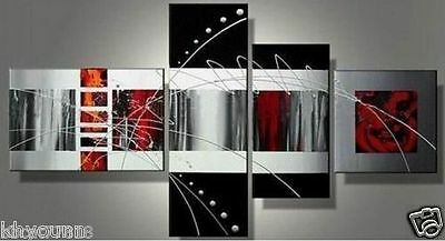 4PC Handmade Modern Abstract On Canvas Decorative Oil Painting /NO Frame