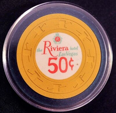 1960s The Rivera Hotel  $.50 Las Vegas Casino Chip (RARE) Chip Rack # N3933