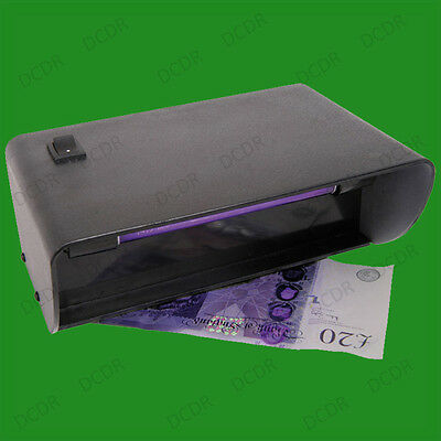 UV Counterfeit Bank Note Checker, Fake Money Forgery Security Marker Detector