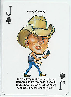 Kenny Chesney - Country Music Singer - ODDBALL Playing card