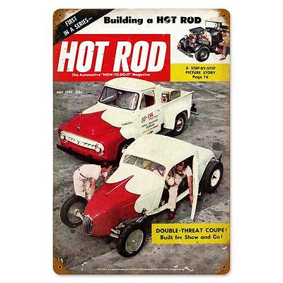 Hot Rod Magazine Double Threat Coupe May 1954 Steel Sign Not Tin