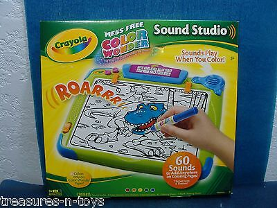 Crayola Mess Free Color Wonder Sound Studio with 60 Sounds & 6 Themes AGES 3+