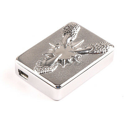 USB Flameless Electronic Rechargeable Sliver-JSZ Windproof Cigar Lighter