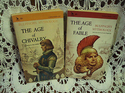 Vtg PB Lot/2 ~ BULFINCH'S MYTHOLOGY ~ The Age of Chivalry / The Age of Fable