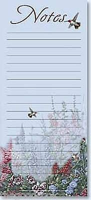 Leanin Tree  Magnetic Shopping List Pad 60 Lined Sheets Magnet  Hummingbird  USA