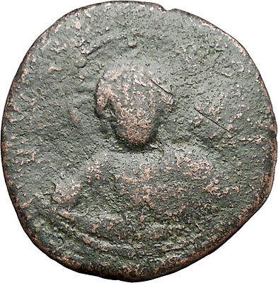 JESUS CHRIST Class A2 Anonymous Ancient 1025AD Byzantine Follis Coin i48276