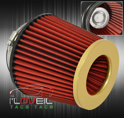 "For Ford 3.0"" Air Filter 75Mm Engine High Flow Cold Sri Intake Replacement Gold"