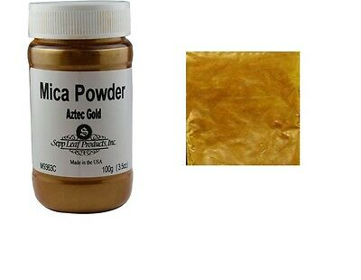 Mica Powder AZTEC GOLD Fusing Flameworking Craft 100g Full Container Pixi Dust