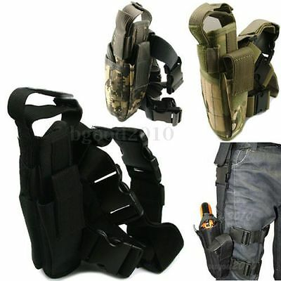 Adjustable Tactical Army Pistol Gun Drop Right Leg Thigh Holster Pouch Holder