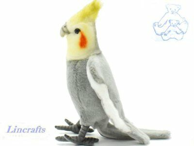 Cockatiel Plush Soft Toy Parakeet by Hansa from Lincrafts. 6470